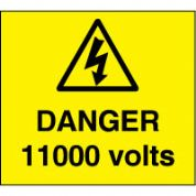Warn089 - Danger 1100 Volts